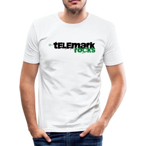 T-Shirt telemark rocks GRÜN im Slimfit-Style - Männer Slim Fit T-Shirt