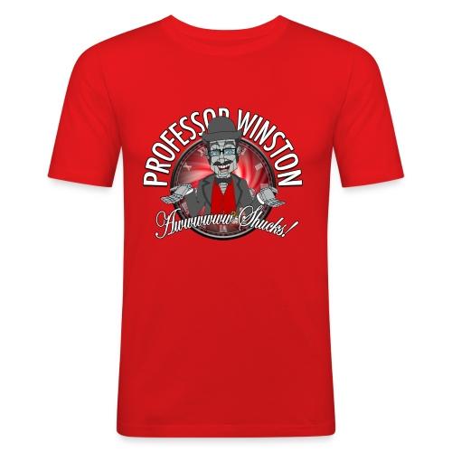 Winston Shucks Red - Men's Shirt (Slim) - Men's Slim Fit T-Shirt