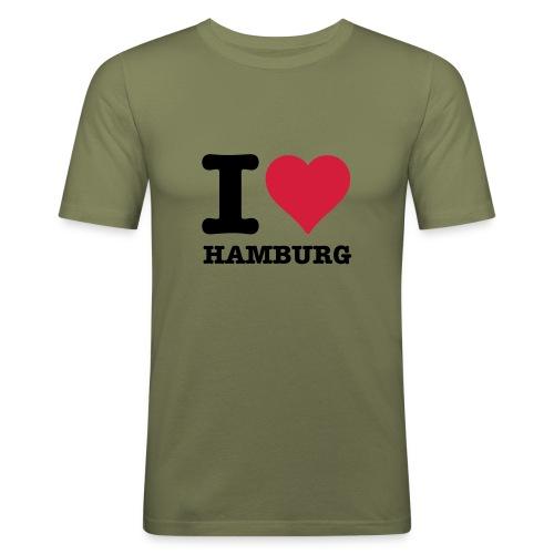 Hamburg T Shirt - Männer Slim Fit T-Shirt