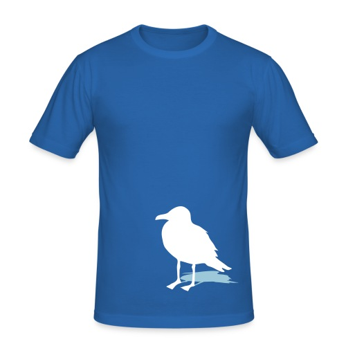 tier t-shirt möwe möwen sea gull seagull hafen beach harbour - Männer Slim Fit T-Shirt