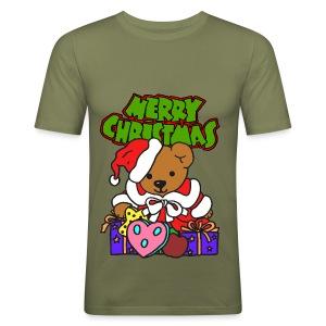 T shirt homme merry christmas - Tee shirt près du corps Homme