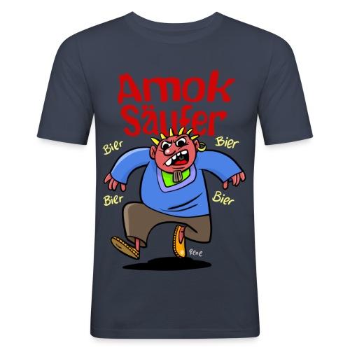 Der Amok Säufer - Männer Slim Fit T-Shirt