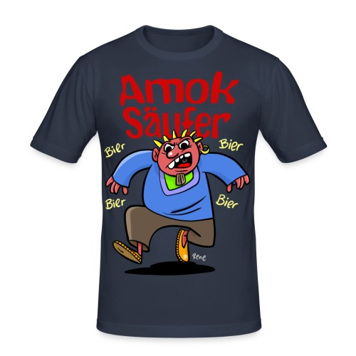 Der Amok Säufer - Männer Slim Fit T-Shirt