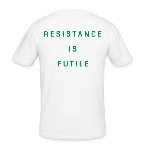 T-Shirt Hürth Enlightened / Resistance Is Futile - Männer Slim Fit T-Shirt
