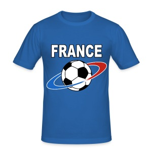 France supporter foot tricolore - Men's Slim Fit T-Shirt