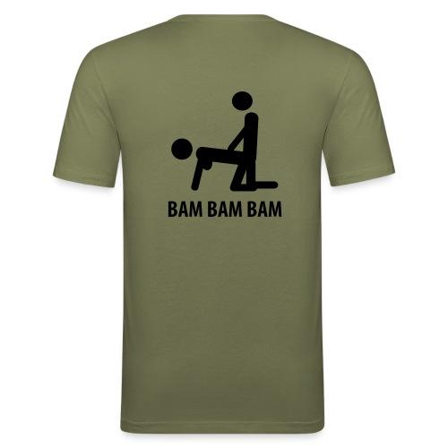 BAM BAM BAM! - Maglietta aderente da uomo