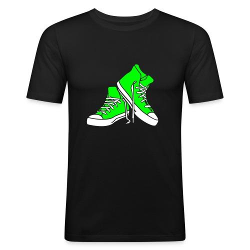 Männer T-Shirt mit Rückenbeschriftung - Männer Slim Fit T-Shirt