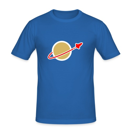 Spaceman blau - Männer Slim Fit T-Shirt