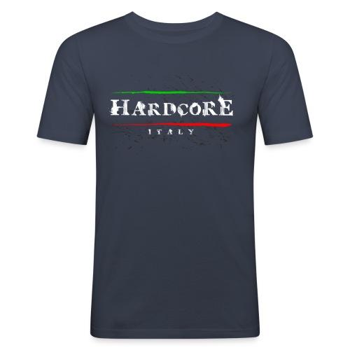 Hard Core Italy navy blue tshirt - Men's Slim Fit T-Shirt
