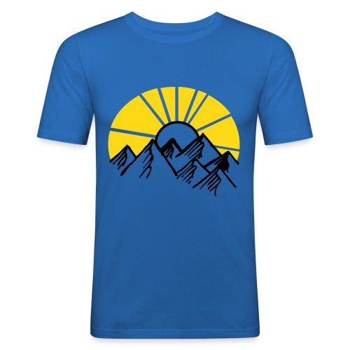 Mountains - Männer Slim Fit T-Shirt