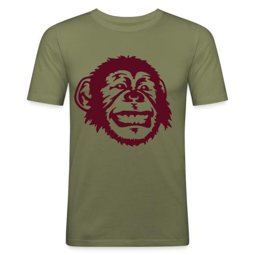 Funny Monkey - Männer Slim Fit T-Shirt