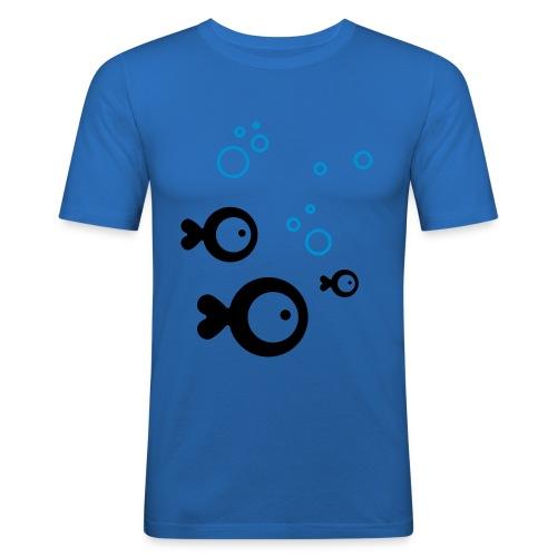 Fish and Bubbles - Männer Slim Fit T-Shirt
