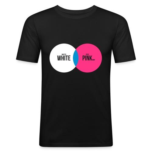 White+Pink=Blue - Männer Slim Fit T-Shirt