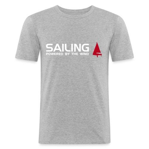 Männer T-Shirt - 'Sailing powered by the wind' - Männer Slim Fit T-Shirt