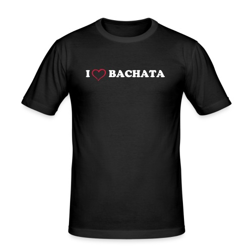 I love Bachata - Slim Fit T-shirt herr