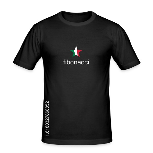 fibonacci series - Men's Slim Fit T-Shirt
