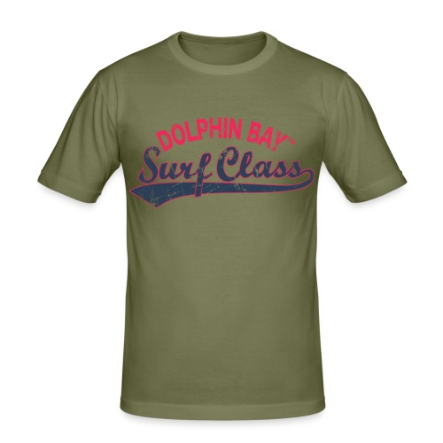 Dolphin Bay Surf Class - Men's Slim Fit T-Shirt