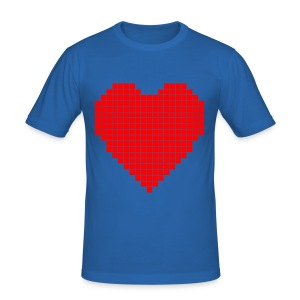 Pixel Heart T - Men's Slim Fit T-Shirt