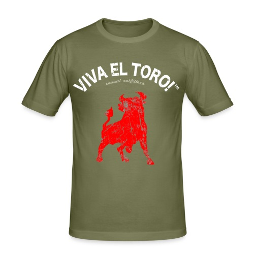 Viva El Toro! Classic    Toro Rosso on khaki - Maglietta aderente da uomo