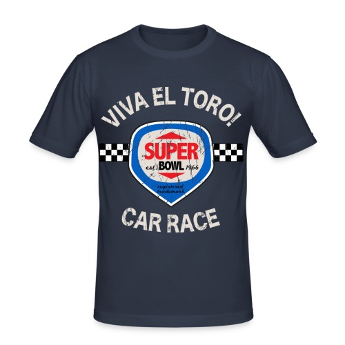 Viva El Toro! Car Race Super Bowl - Maglietta aderente da uomo