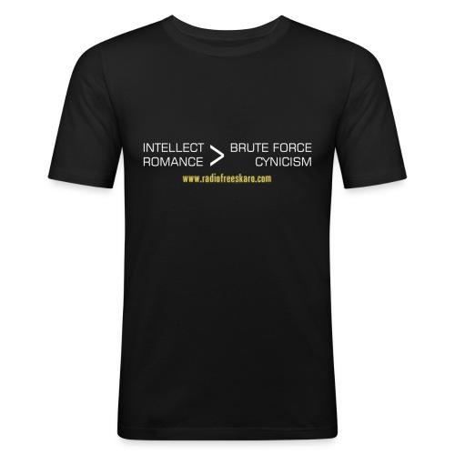 Intellect & Romance (Slim T-Shirt) - Men's Slim Fit T-Shirt