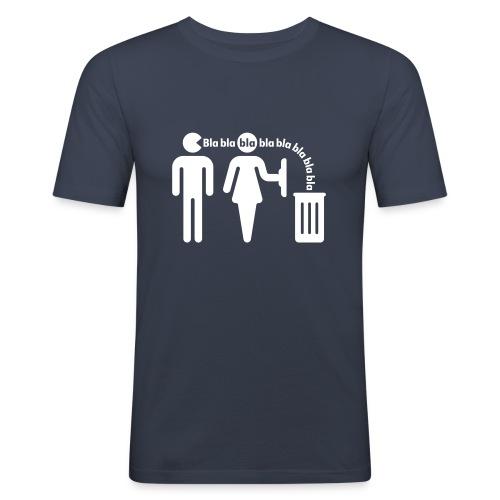 bla bla bla - Männer Slim Fit T-Shirt