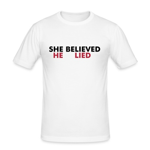 She Believed - Men's Slim Fit T-Shirt