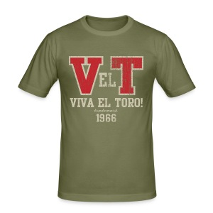 VIVA EL TORO! Collegiate Bulls. Maglietta slim. - Men's Slim Fit T-Shirt