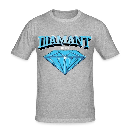 Diamant Byen Tee Black  - Slim Fit T-skjorte for menn