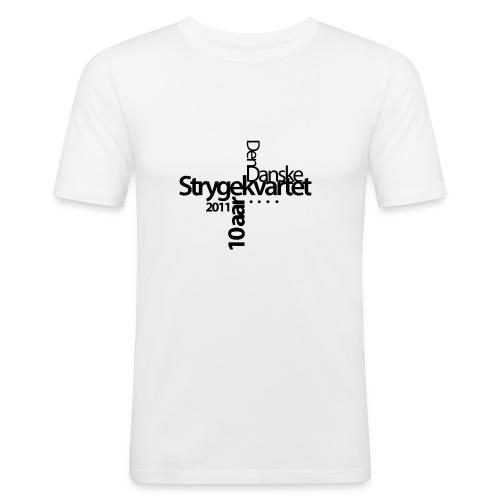 Jubilæums t-shirt, hvid - Men's Slim Fit T-Shirt