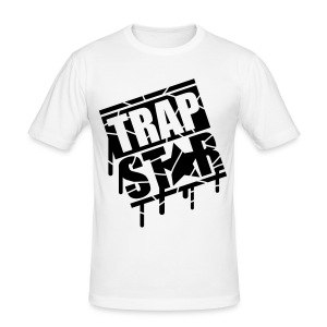 White Trap Star Premium T-Shirt Mens Medium  - Men's Slim Fit T-Shirt