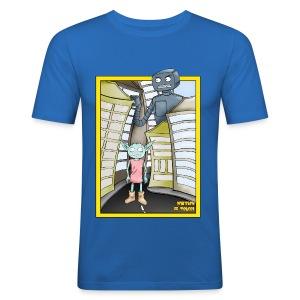 Roboterfurcht einfach - Männer Slim Fit T-Shirt
