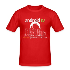 android tv Männer Slim Fit T-Shirt (10 Euro Unterstützung) - Männer Slim Fit T-Shirt