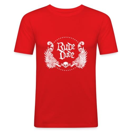 Rude Dude (blanc) - T-shirt près du corps Homme