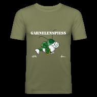 T-Shirts ~ Männer Slim Fit T-Shirt ~ Garnelenspieß