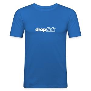 Blue slim droplink - Men's Slim Fit T-Shirt