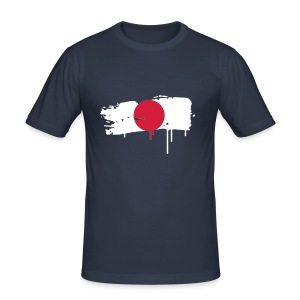 Japanese flag painted with a brush stroke T-Shirts - Men's Slim Fit T-Shirt