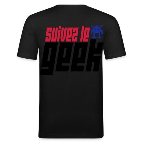 Suivez le geek  - T-shirt près du corps Homme