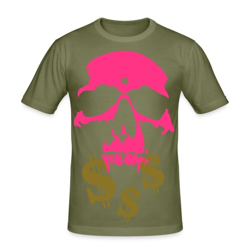 Skull and Dollar - Men's Slim Fit T-Shirt