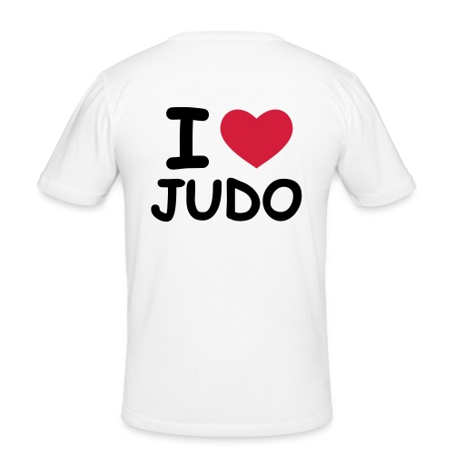 I Love Judo - Slim Fit T-shirt Herr - Slim Fit T-shirt herr