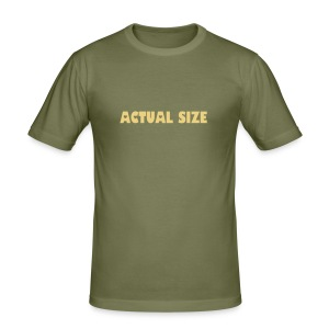 Actual Size tee - Men's Slim Fit T-Shirt