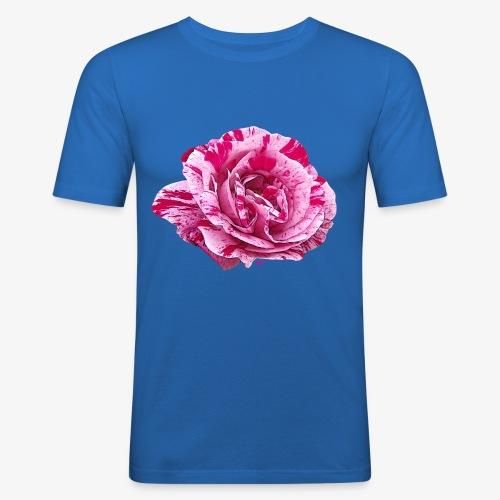 Rose zébrée - Men's Slim Fit T-Shirt