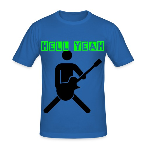 Hell Yeah Rocks - Men's Slim Fit T-Shirt
