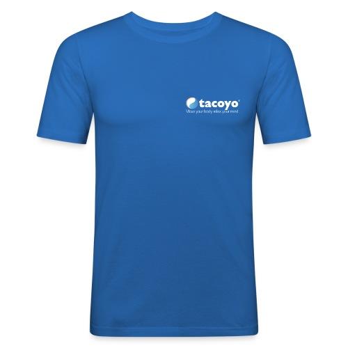 Man slim fit - WIT LOGO - slim fit T-shirt