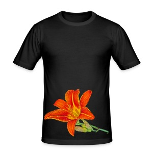 Lys orange - Tee shirt près du corps Homme