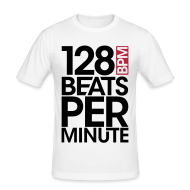 T-Shirts ~ Männer Slim Fit T-Shirt ~ 128 Beats Per Minute