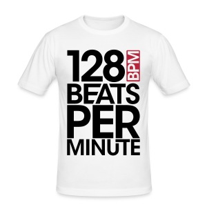 128 Beats Per Minute - Männer Slim Fit T-Shirt