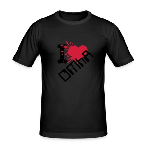 I love OMhA (T-shirt) - Männer Slim Fit T-Shirt