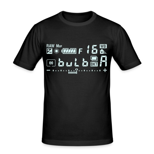 Kamera Symbole Reflektierend - Männer Slim Fit T-Shirt