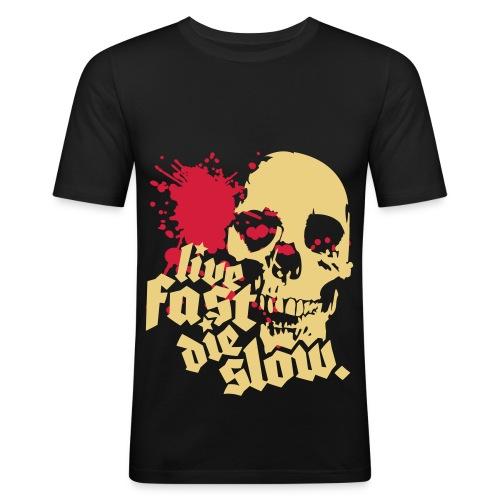 Live Fast Die Slow - Herre Slim Fit T-Shirt